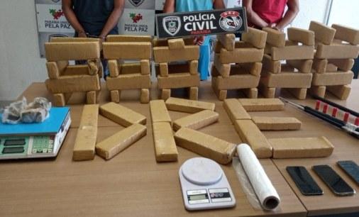 DROGAS Polícia Civil apreende 70 quilos de drogas e prende três suspeitos de praticar tráfico na PB