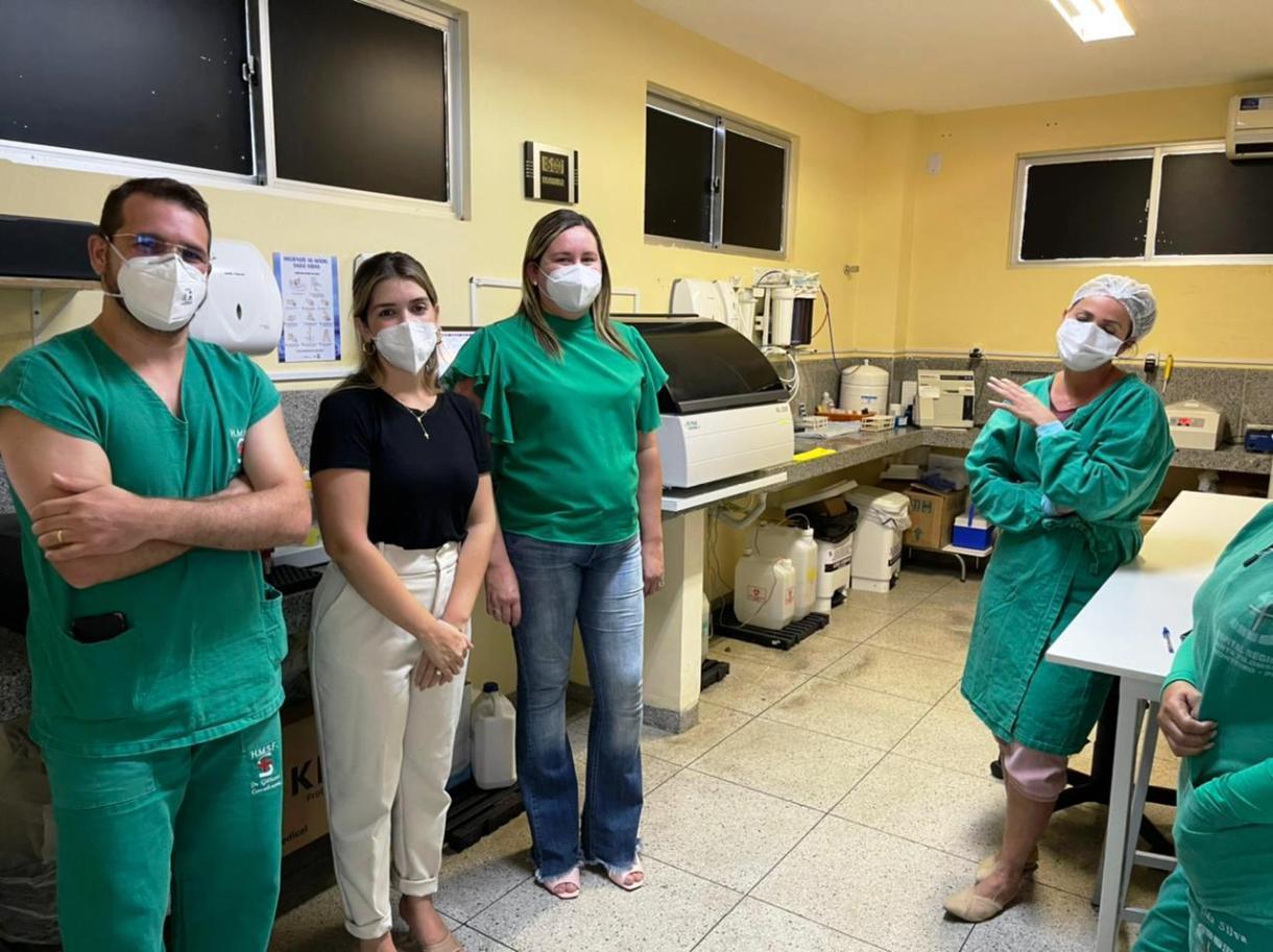 Entrega-Gasometro2 HRSF recebe da Prefeitura de Monteiro equipamento que otimiza tratamento de pacientes com Covid-19