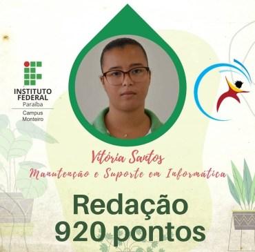 IMG_20210404_232056 Estudantes do IFPB campus Monteiro, comemoram notas acima de 900 pontos na redação do Enem
