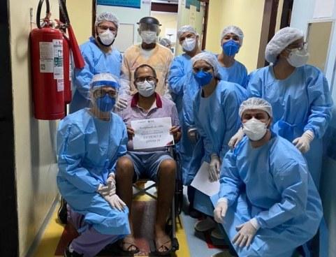 venci-covid Mais de 100 curados da covid-19 recebem alta no Trauma de JP em apenas um dia