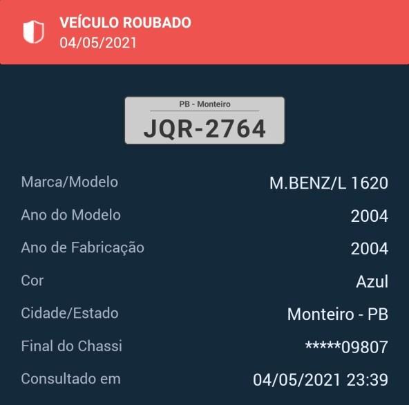 IMG_20210504_233921 Monteirense tem caminhão tomado por assalto em Juazeiro