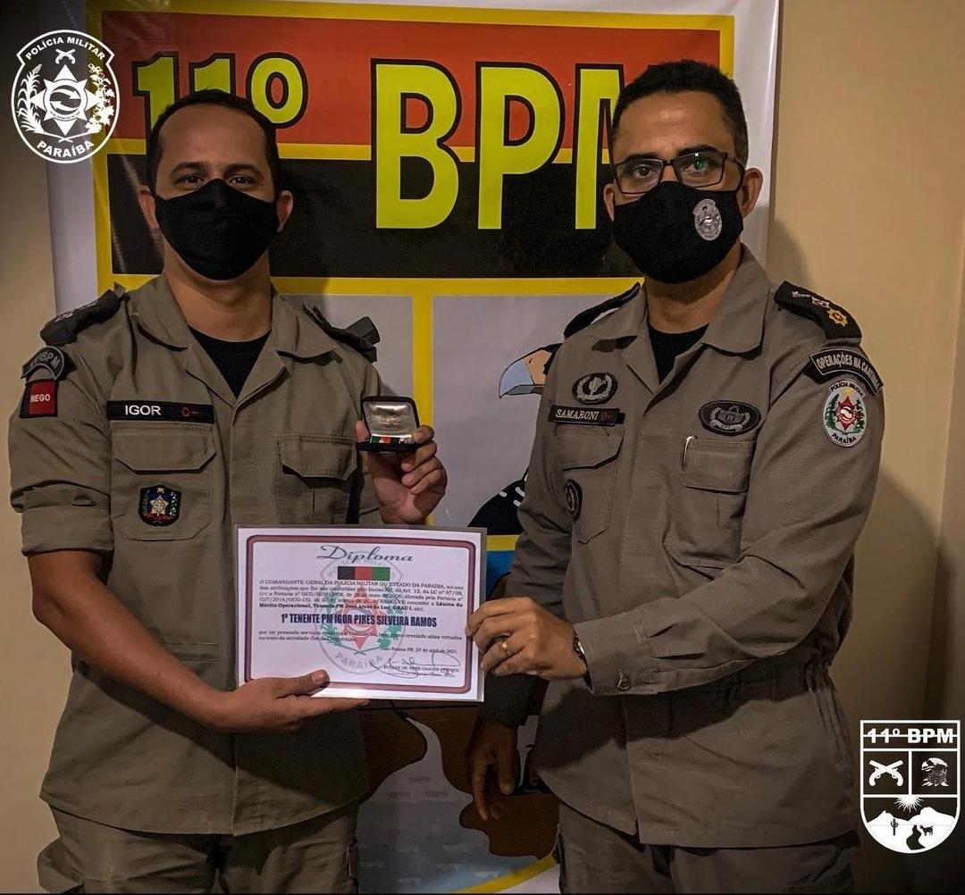 IMG_20210506_144937 11º Batalhão de Polícia Militar de Monteiro, realiza solenidade alusiva ao patrono das Polícias Militares e entrega medalhas