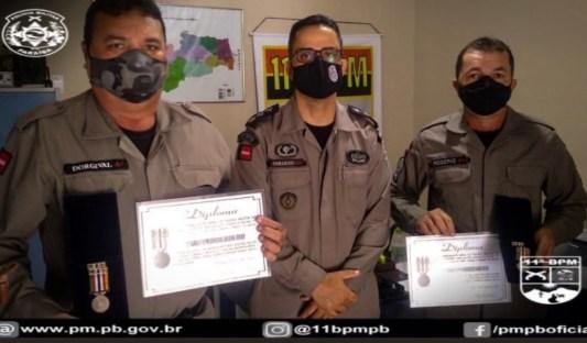 IMG_20210506_145017 11º Batalhão de Polícia Militar de Monteiro, realiza solenidade alusiva ao patrono das Polícias Militares e entrega medalhas