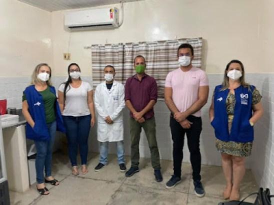 9 Prefeito e secretário de saúde de São João do Tigre recebem visita técnica da Gerente Regional e discutem melhorias e estratégias de combate à COVID-19