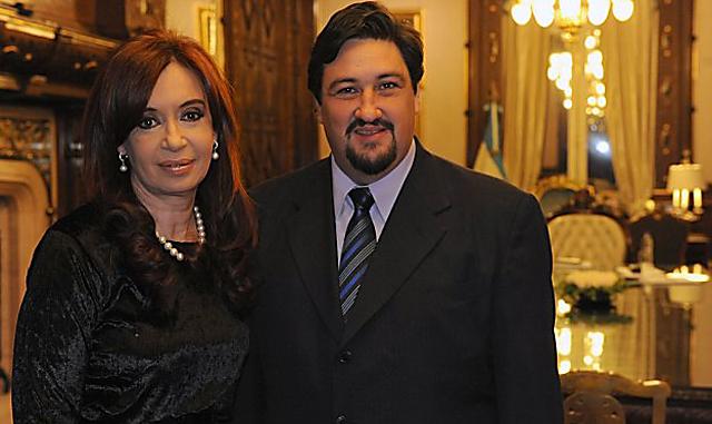 Maurice Closs el gobernador de Misiones juntos a Cristina Kirchner - Foto: Presidencia