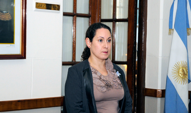 La Jueza Federal la Dra Andrea Belinda Askenazi Vera - Foto: OPI Santa Cruz/Francisco Muñoz