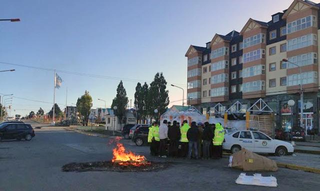 La policía de Tierra del Fuego en Río Grande - Foto: Pablo Torres