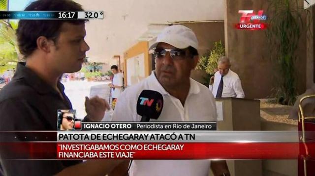 Ignacio Otero en dialogo con Ricardo Echegaray - Foto: TN