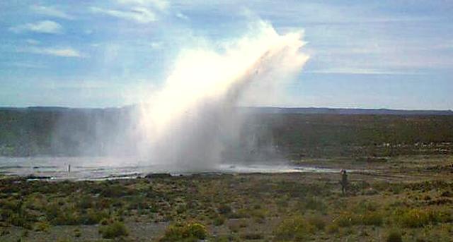 Una de las tantas roturas del acueducto - Foto: