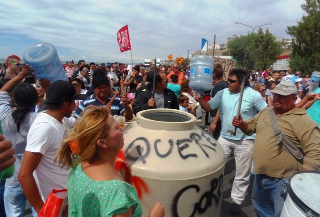 Protesta. Foto Gentileza La Vanguardia del Sur