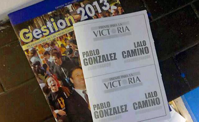 Las boletas con el nombre de Pablo Gonzalez y Teodoro Camino en Río Gallegos - Foto: OPI Santa Cruz