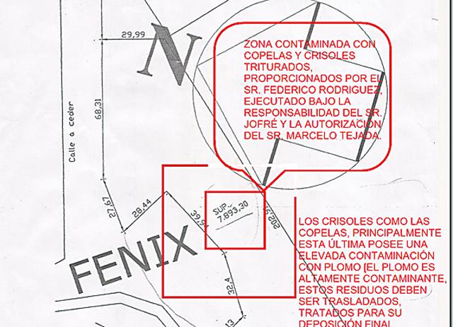 El plano de la ubicación exacta del lugar contaminado - Foto: