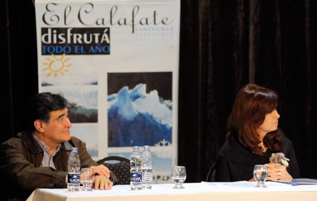 Carlos Zannini justo a la Presidenta de la Nación Cristina Kirchner - Foto: OPI Santa Cruz/Francisco Muñoz