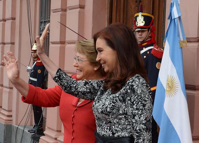 Ayer Cristina Kirchner junto a la presidenta de Chile - Foto: Presidencia