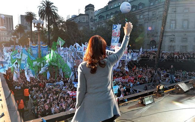 """La Presidente recordó a Néstor Kirchner y dijo que no le """"interesa la unidad nacional para volver atrás"""" - Foto: Presidencia"""