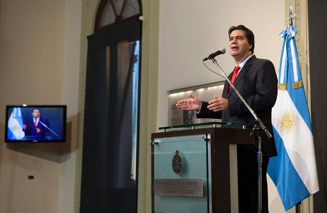 Capitanich afirmó que no hay misión preparada para un eventual viaje a Estados Unidos