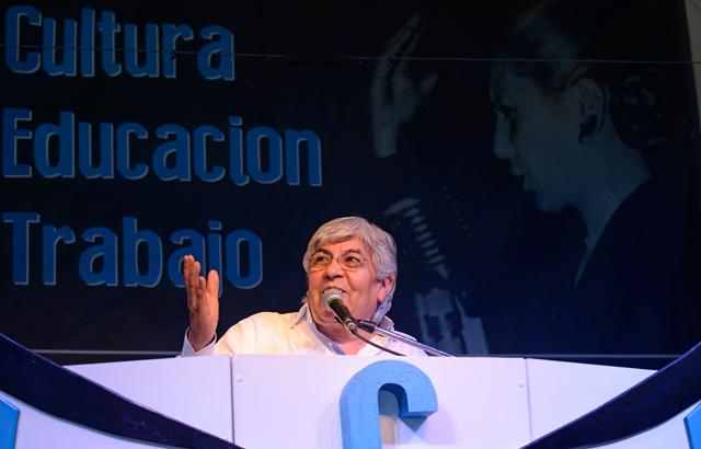 El Secretario general del Sindicato de Camineros Hugo Moyano - Foto: OPI Santa Cruz/Francisco Muñoz