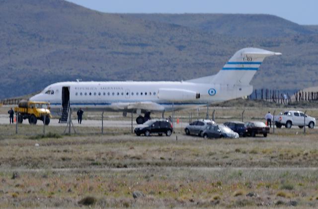 El T03 en el aeropuerto de Río Gallegos - Foto: OPI Santa Cruz/Francisco Muñoz