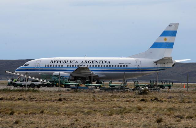El T04 a la espera de alguna orden para volar a El Calafate - Foto: OPI Santa Cruz/Francisco Muñoz
