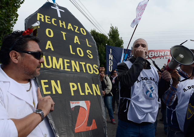 Docentes de Santa Cruz con otras 48 hs de paro - Foto: OPI Santa Cruz/Francisco Muñoz