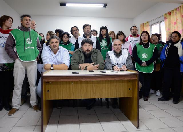 Conferencia de prensa conjunta de Adosac y ATE esta tarde en Río Gallegos - Foto: OPI Santa Cruz/Francisco Muñoz