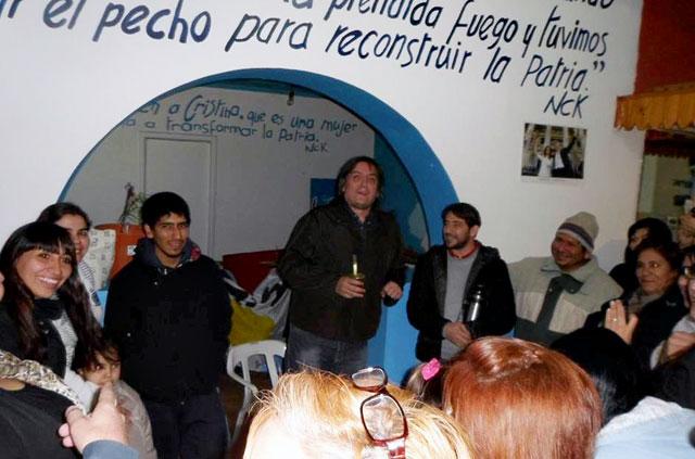 Máximo Kirchner de recorrida militante en Santa Cruz - Foto: Facebook