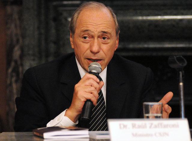 El ex ministro de la Corte Suprema de Justicia Eugenio Zaffaroni -