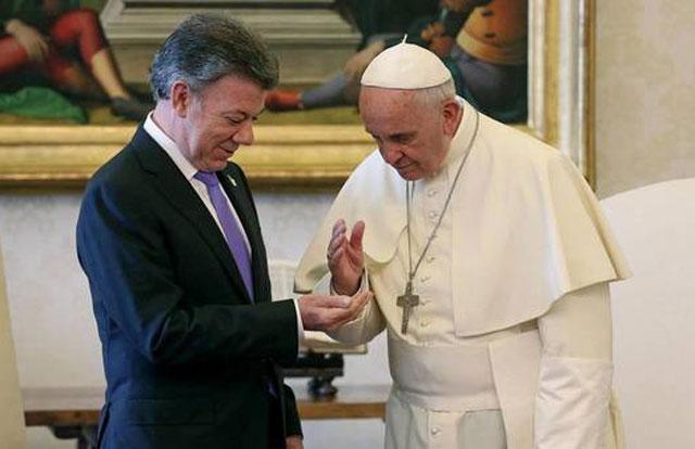 """El Papa ofrece su """"ayuda"""" a Colombia para el proceso de paz con las FARC"""