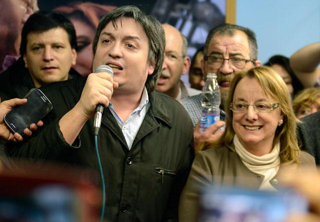 Máximo perdió por 3,57 % en manos de Roquel, después de haber festejado en el Comando del FPV, un triunfo por 10 puntos