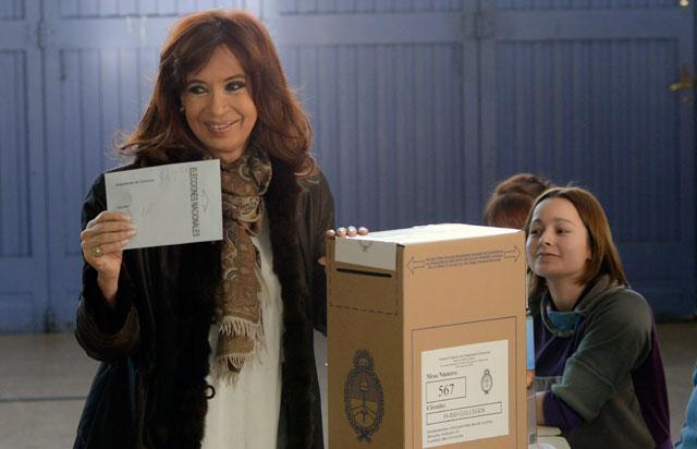 La Presidenta de la Nación voto en Río Gallegos - Foto: OPI Santa Cruz/Francisco Muñoz