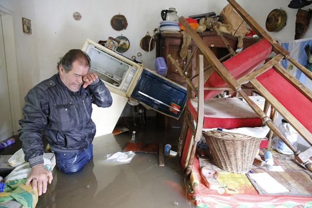 Gabriel Márquez, en su casa en San Antonio de Areco. Foto: La Nación / Ricardo Pristupluk