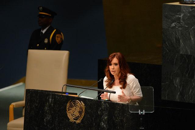 """En la ONU, Cristina acusó a EE.UU. de """"proteger"""" a Stiuso"""