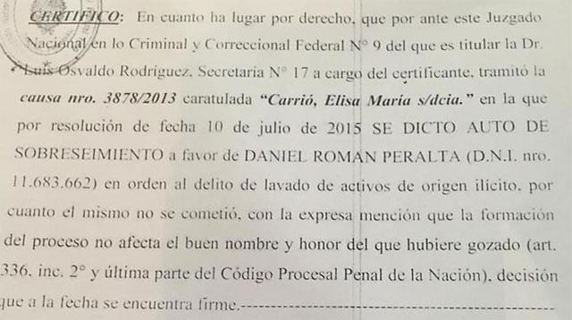 El Gobernador Peralta fue sobreseído en la causa de Carrió-Zuvic por lavado de dinero