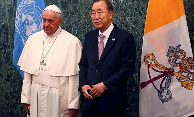 """El Papa en la ONU: """"el poder tecnológico, en manos de ideologías nacionalistas es capaz de producir atrocidades"""""""