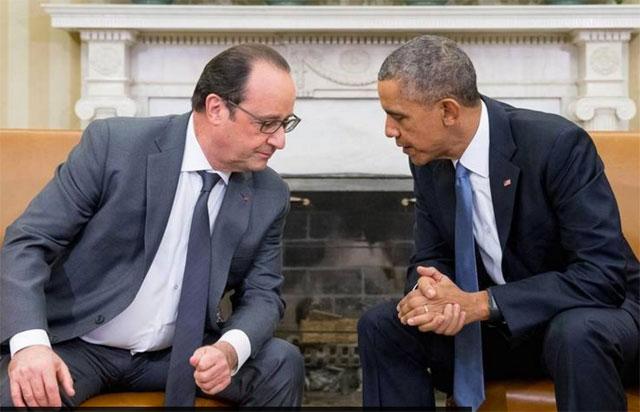 """Obama a Hollande: el ISIS debe ser destruido: """"debemos hacerlo juntos''"""