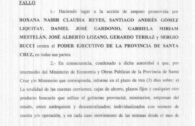 La Justicia ordena a Alicia Kirchner a mostrar los números de la provincia