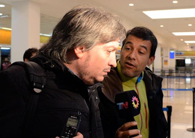 El Diputado Nacional Máximo Kirchner abordo el mismo vuelo que los hijos de su socio Lázaro Báez  – Foto: OPI Santa Cruz/Francisco Muñoz
