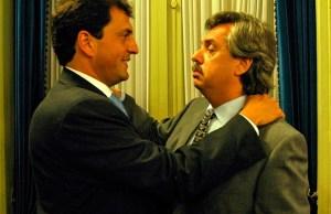 Sergio Massa junto a Alberto Fernández mientras el Kirchnerismo gobernaba el país -