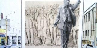 La estatua de Néstor Kirchner