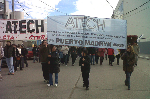 ATECH movilizada hoy en Puerto Madryn.