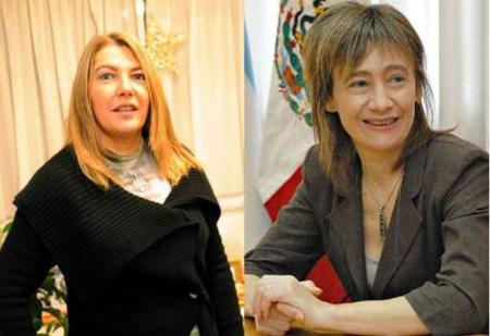 Rosana Bertone y Fabiana Rios - Foto: Perfil