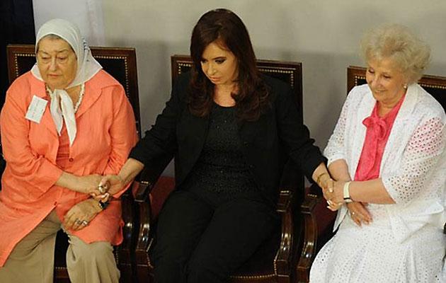 Hebe Bonafini Cristina Fernández de Kirchner y Estela de Carlotto - Foto: Web