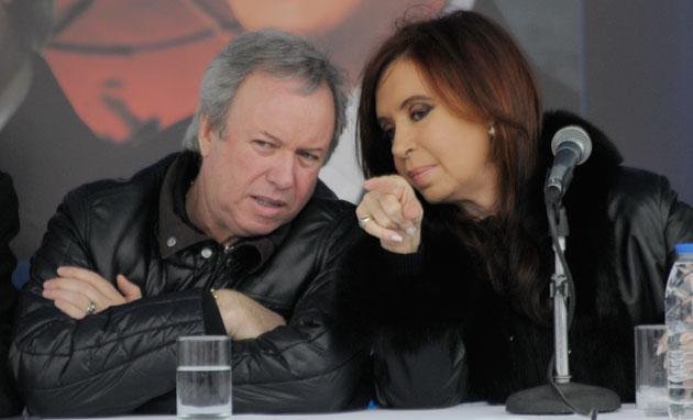 El Gobernador Daniel Peralta junto a Cristina Fernández de Kirchner - Foto: OPI Santa Cruz/Francisco Muñoz
