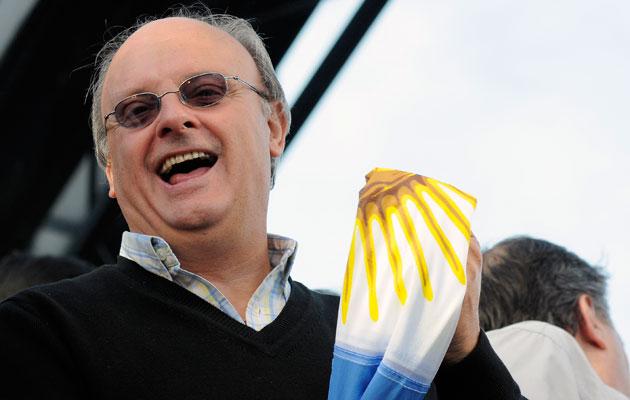 Néstor Di Pierro el Intendente de Comoro Rivadavia - Foto: OPI Santa Cruz/Francisco Muñoz