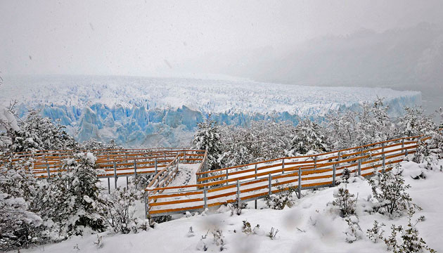 El imponente Glaciar Perito Moreno en invierno – Foto: OPI Santa Cruz/Francisco Muñoz