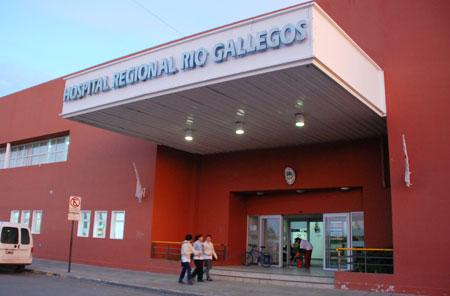 El frente del Hospital Regional de Río Gallegos – Foto: OPI Santa Cruz/Francisco Muñoz
