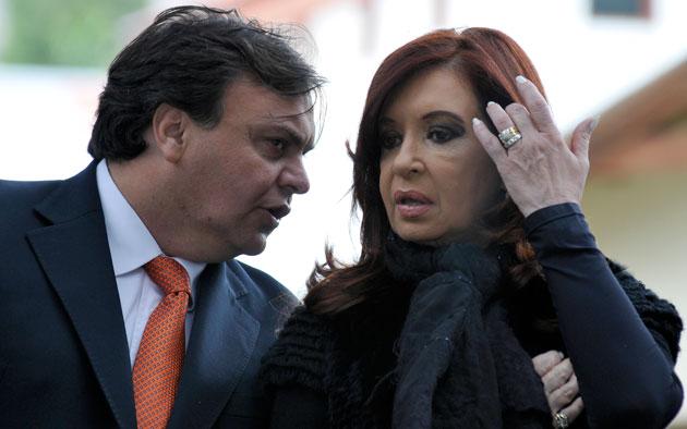 Javier Belloni junto a la Presidenta de la Nación Cristina Fernández de Kirchner en El Calafate - Foto: OPI Santa Cruz/Francisco Muñoz