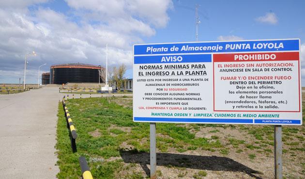 La planta de Petrobras en Punta Loyola - Foto: OPI Santa Cruz/Francisco Muñoz