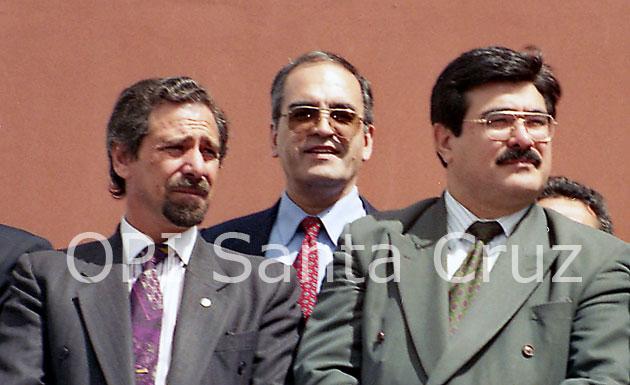 Ricardo Jaime y Carlos Zanini en los 90 cuando Néstor Kirchner era Gobernador de Santa Cruz - Foto: Archivo OPI Santa Cruz