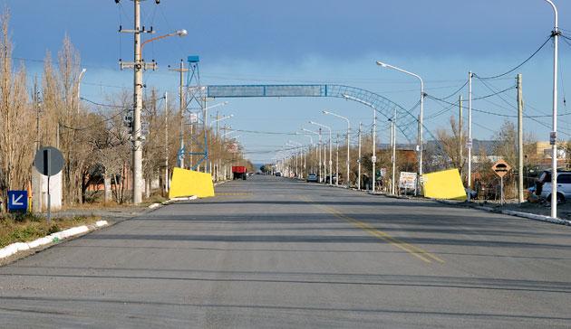 Las calles de Las Heras – Foto: OPI Santa Cruz/Francisco Muñoz
